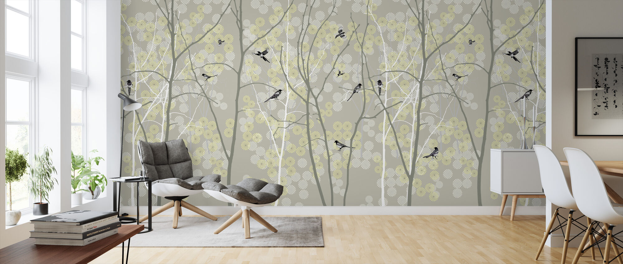 May Magpie - Wallpaper - Living Room