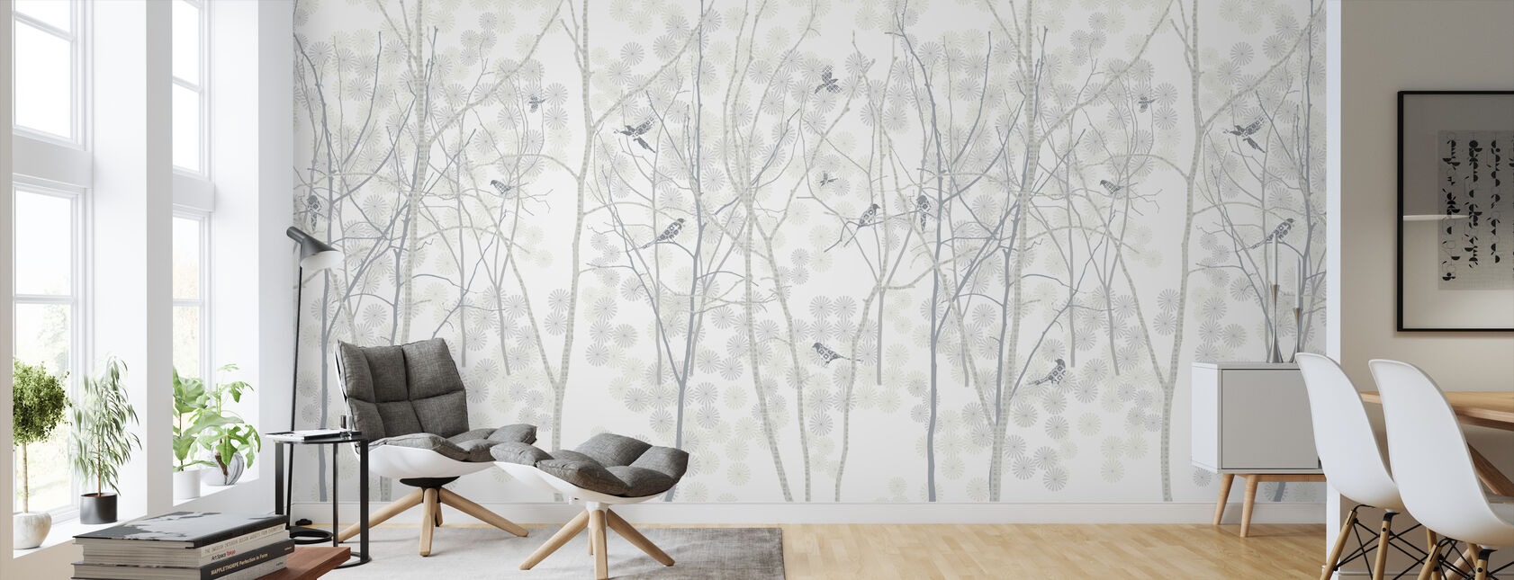 January Magpie - Wallpaper - Living Room