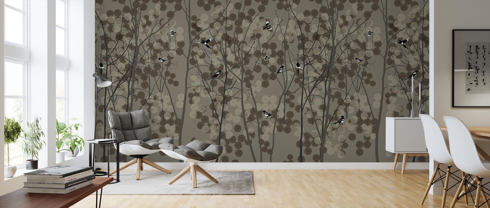October Magpie - Wallpaper - Living Room