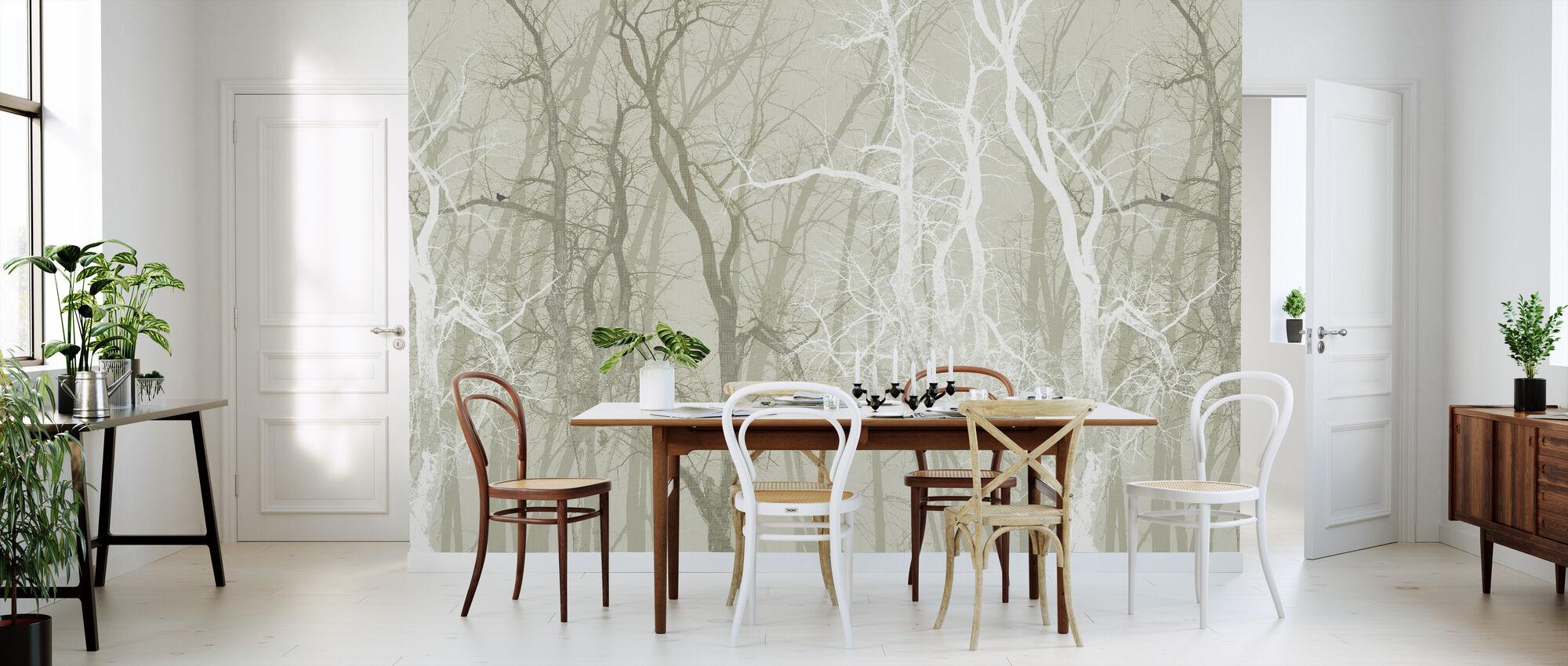 Dwalende bomen Sepia - Behang - Keuken