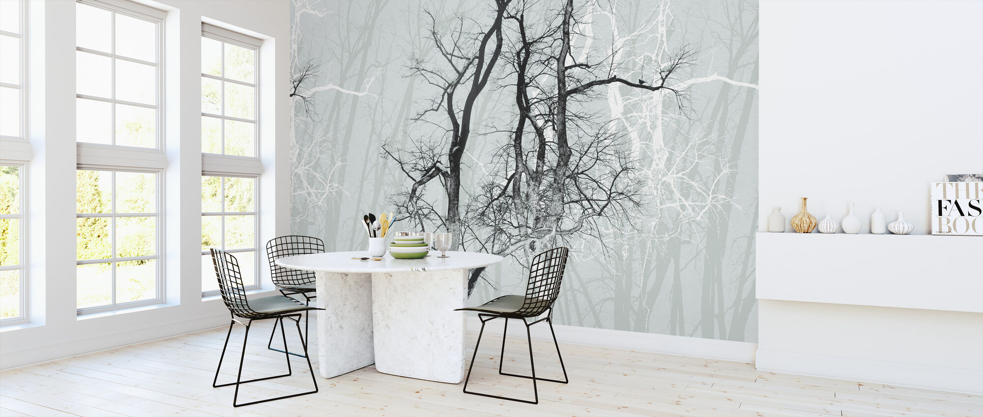 Wander Wood Frost - Wallpaper - Kitchen