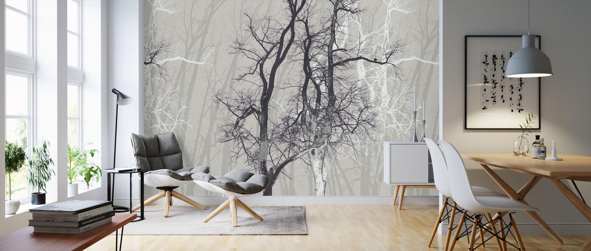 Vandra trä pulver - Tapet - Vardagsrum
