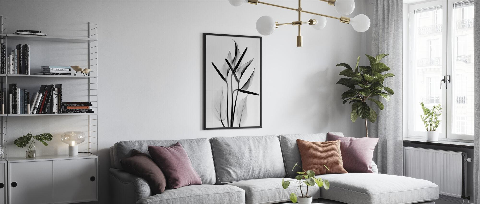 Flamingo - Inramad tavla - Vardagsrum