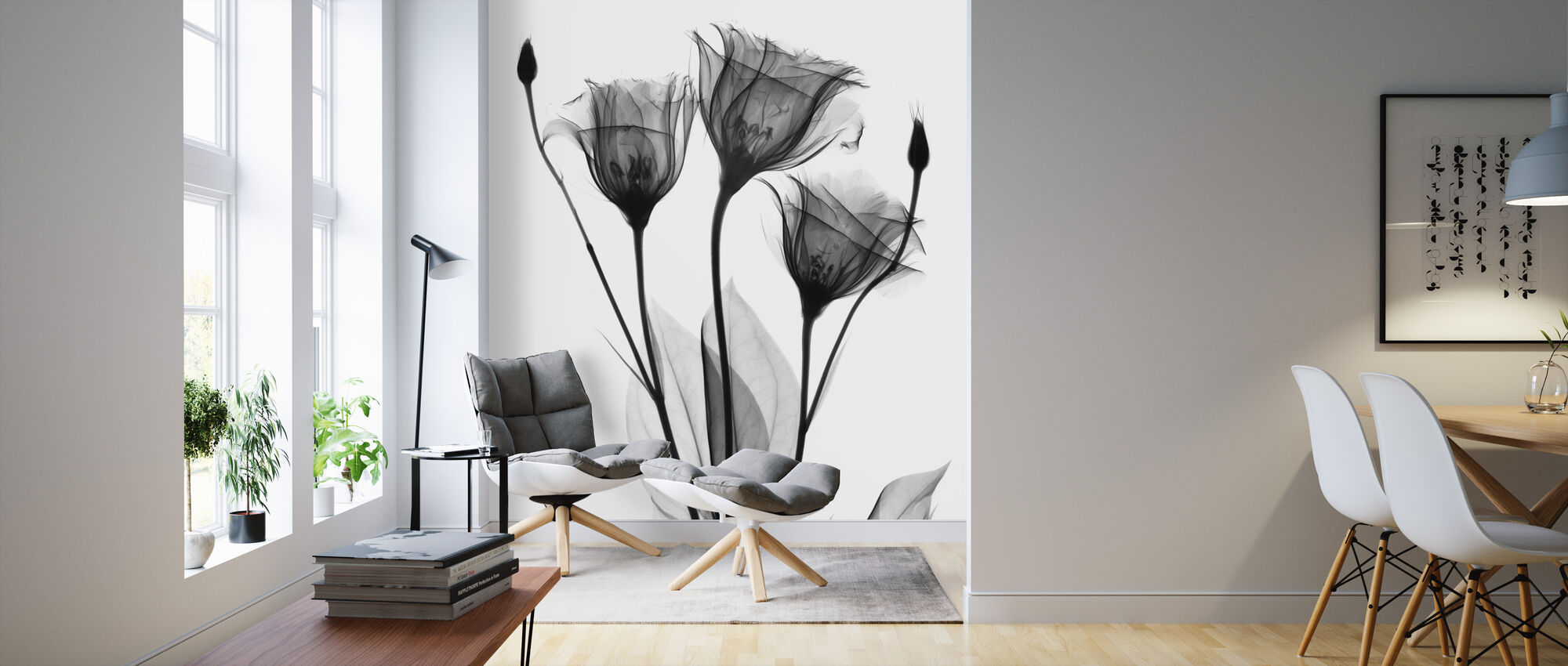 Gentian - Wallpaper - Living Room