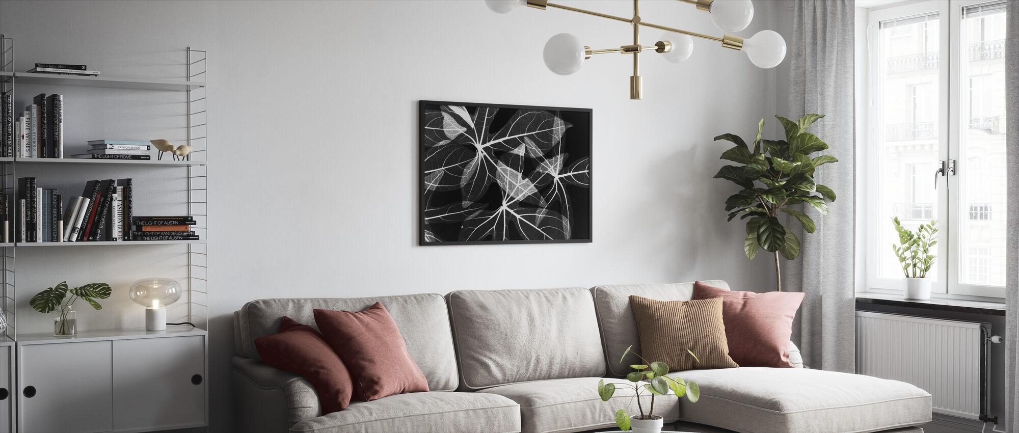 Löv - Inramad tavla - Vardagsrum
