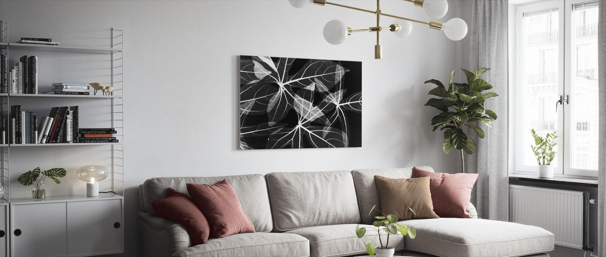 Leaves - Canvas print - Living Room