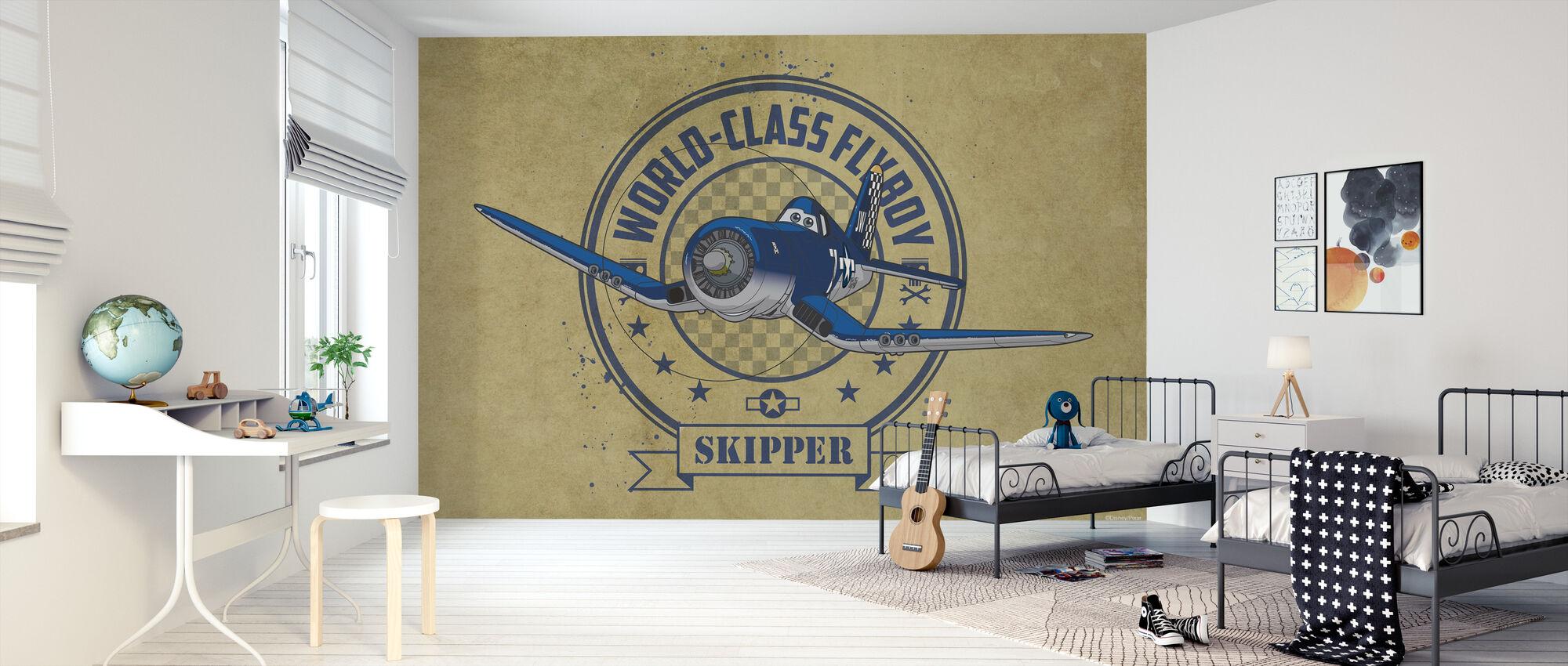 Flygplan - skeppare - Tapet - Barnrum