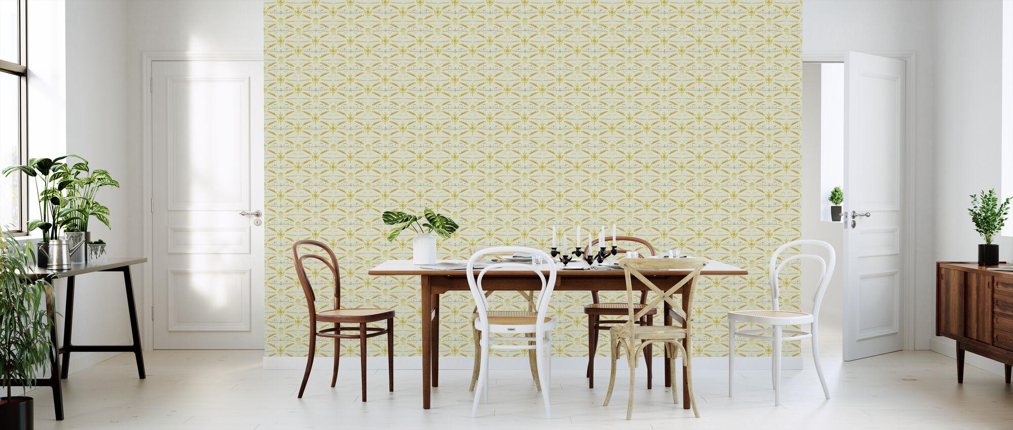 Colorform Yellow - Wallpaper - Kitchen