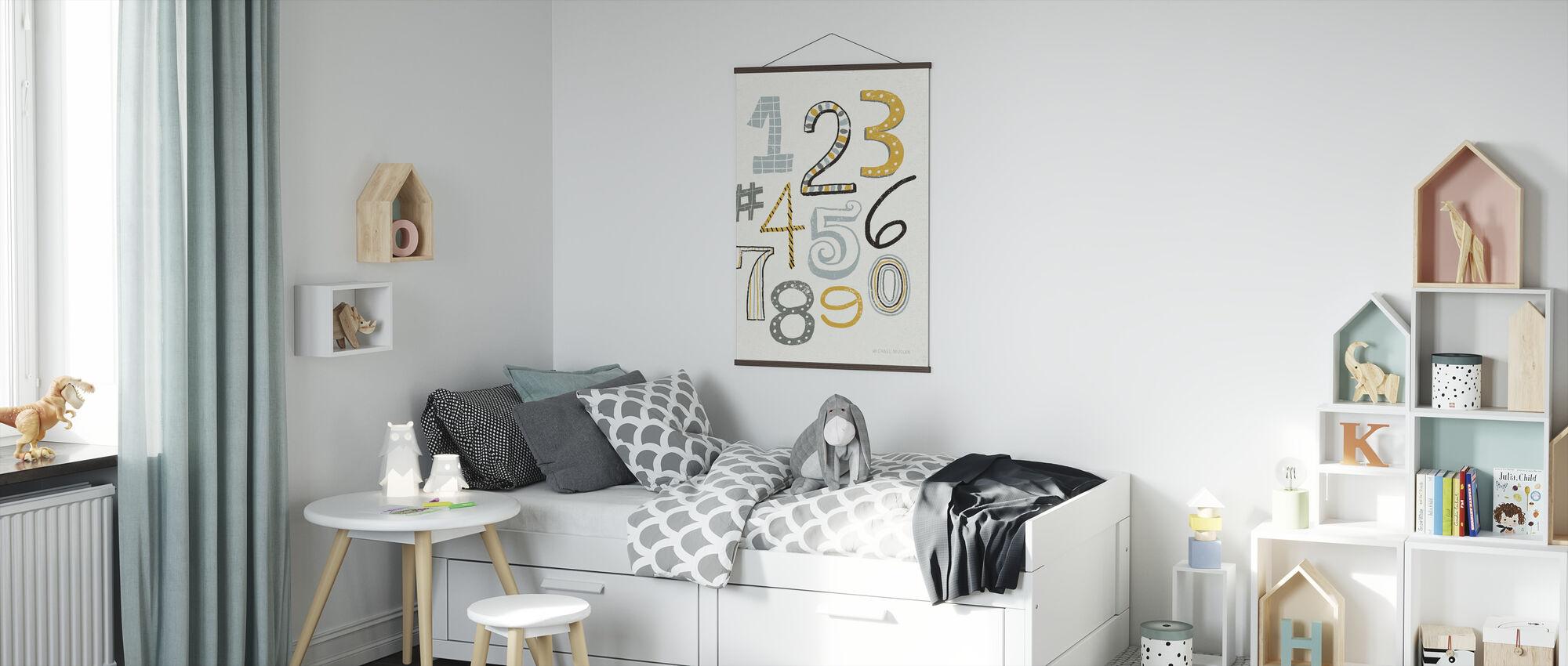 Funky Numbers - Poster - Kids Room