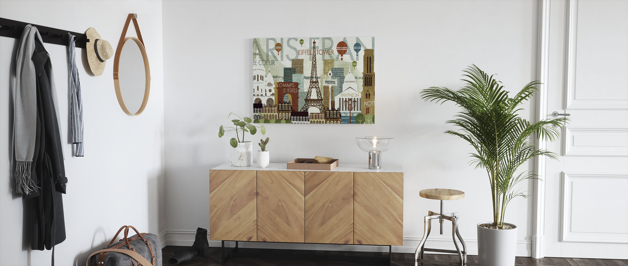 Hello Paris - Canvas print - Hallway