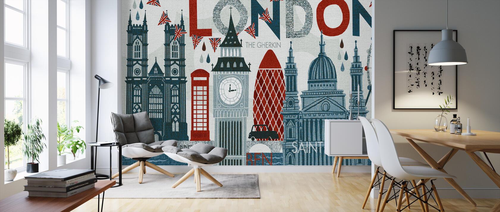 hello london trendige fototapete photowall. Black Bedroom Furniture Sets. Home Design Ideas