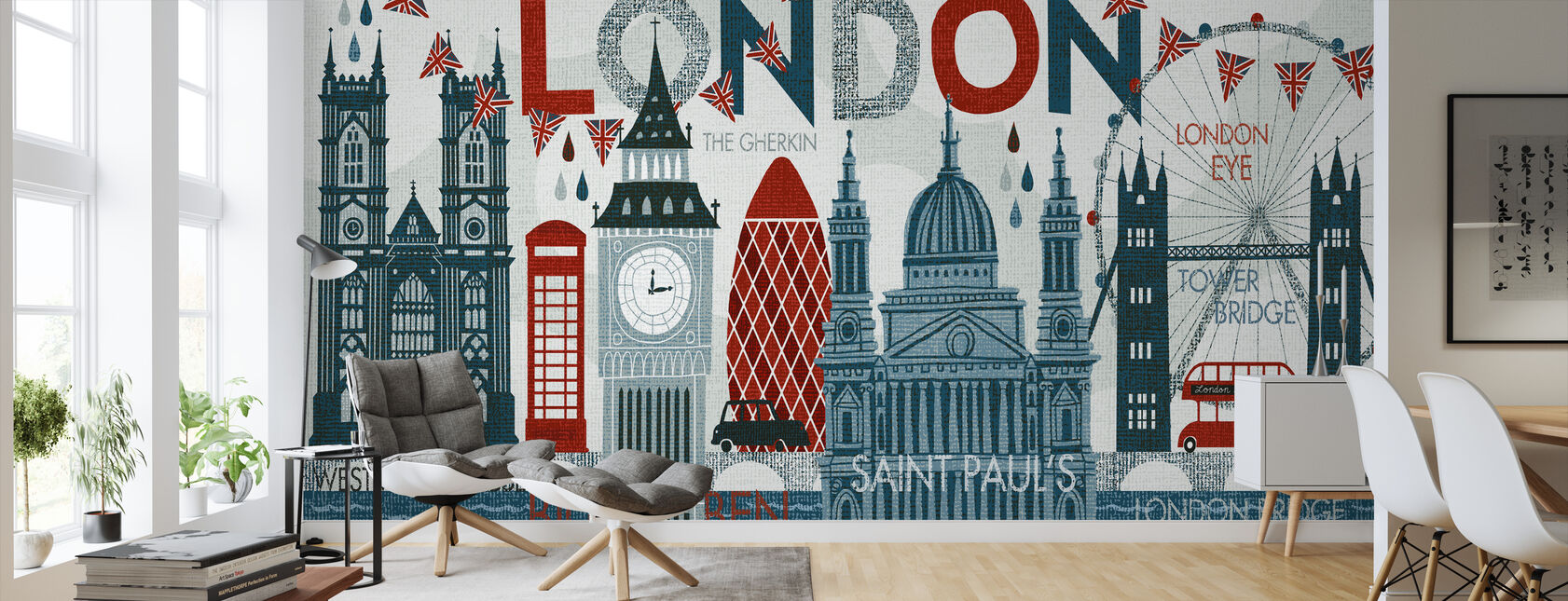 Hello London - Wallpaper - Living Room