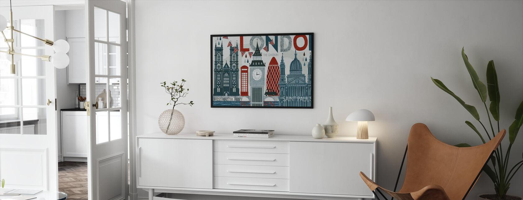 Hello London - Framed print - Living Room