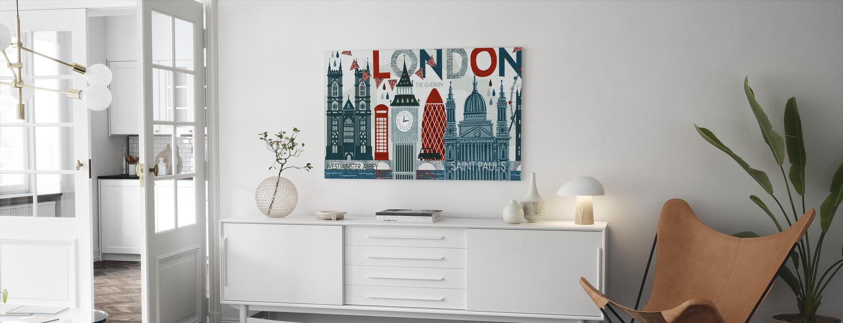 Hello London - Canvas print - Living Room