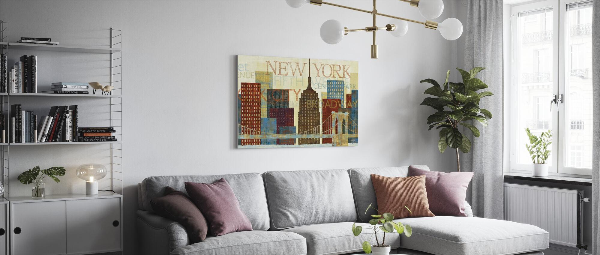 Hey New York - Canvas print - Living Room