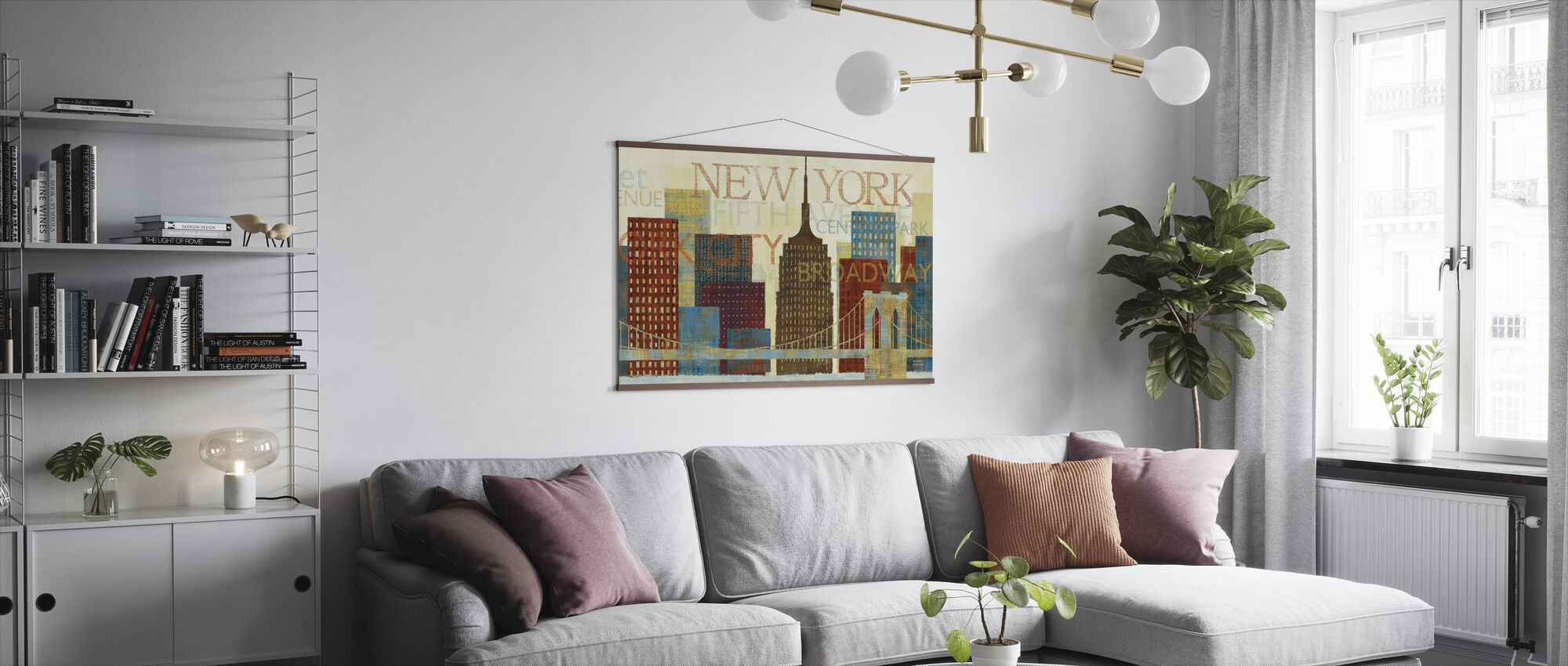 Hey New York - Poster - Living Room