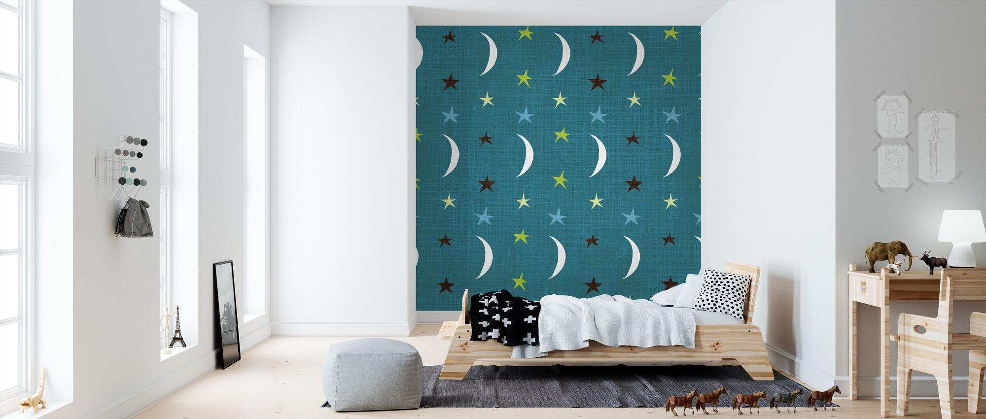 Night Owl V - Wallpaper - Kids Room