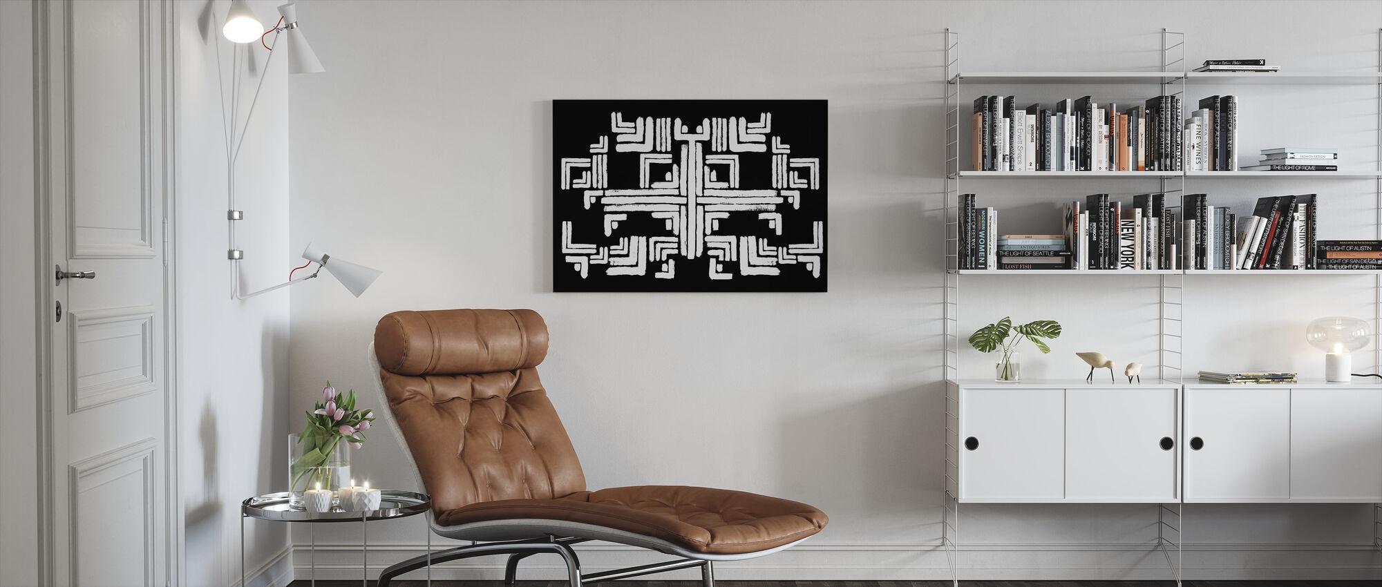 Tribe Zwart Wit - Canvas print - Woonkamer