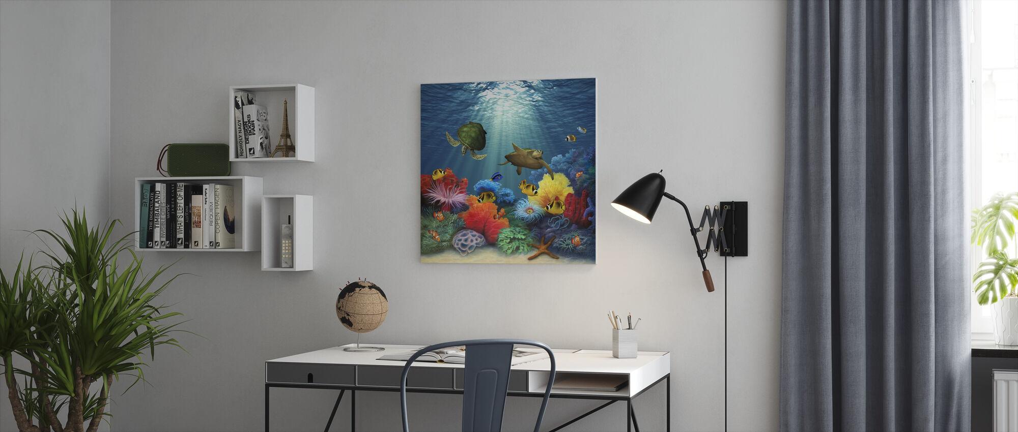 Korall Hav - Canvastavla - Kontor