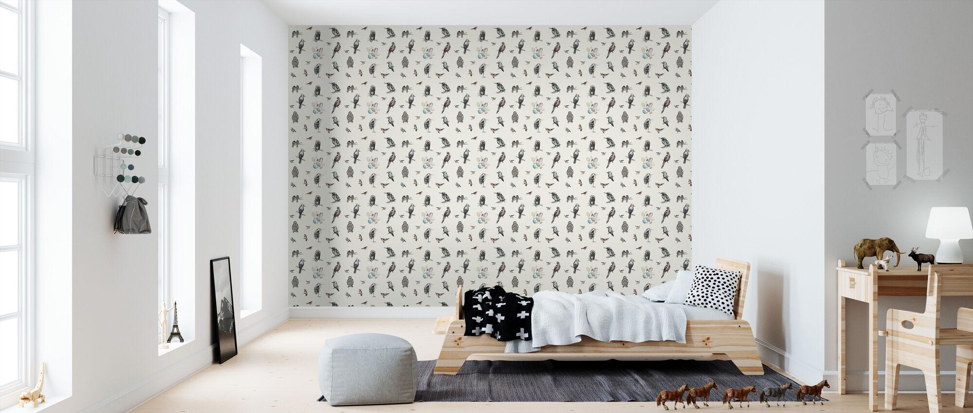 Birds - Wallpaper - Kids Room