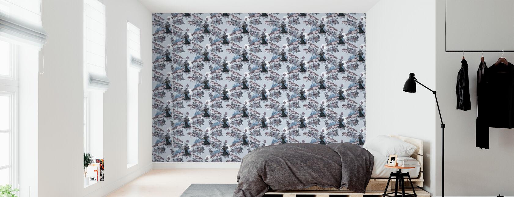Fairytale - Light Blue - Wallpaper - Bedroom