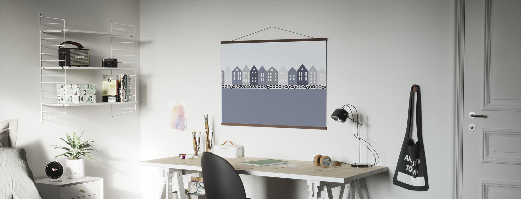 Bryggen - Blue - Poster - Office
