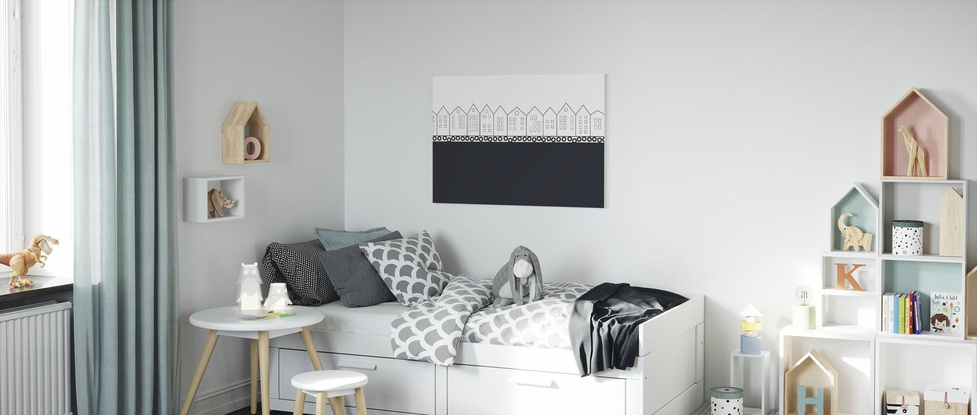 Bryggen Black - Canvas print - Kinderkamer