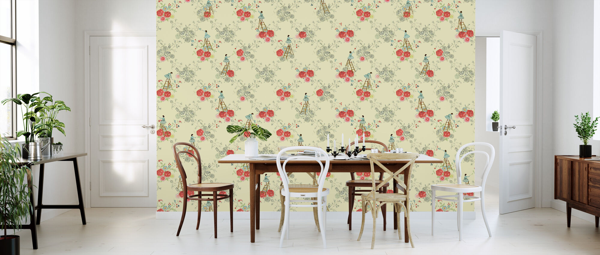 Rose Colouring - Wallpaper - Kitchen