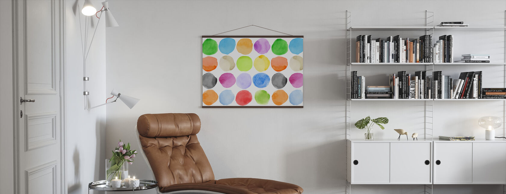Watercolour Dots - Poster - Living Room