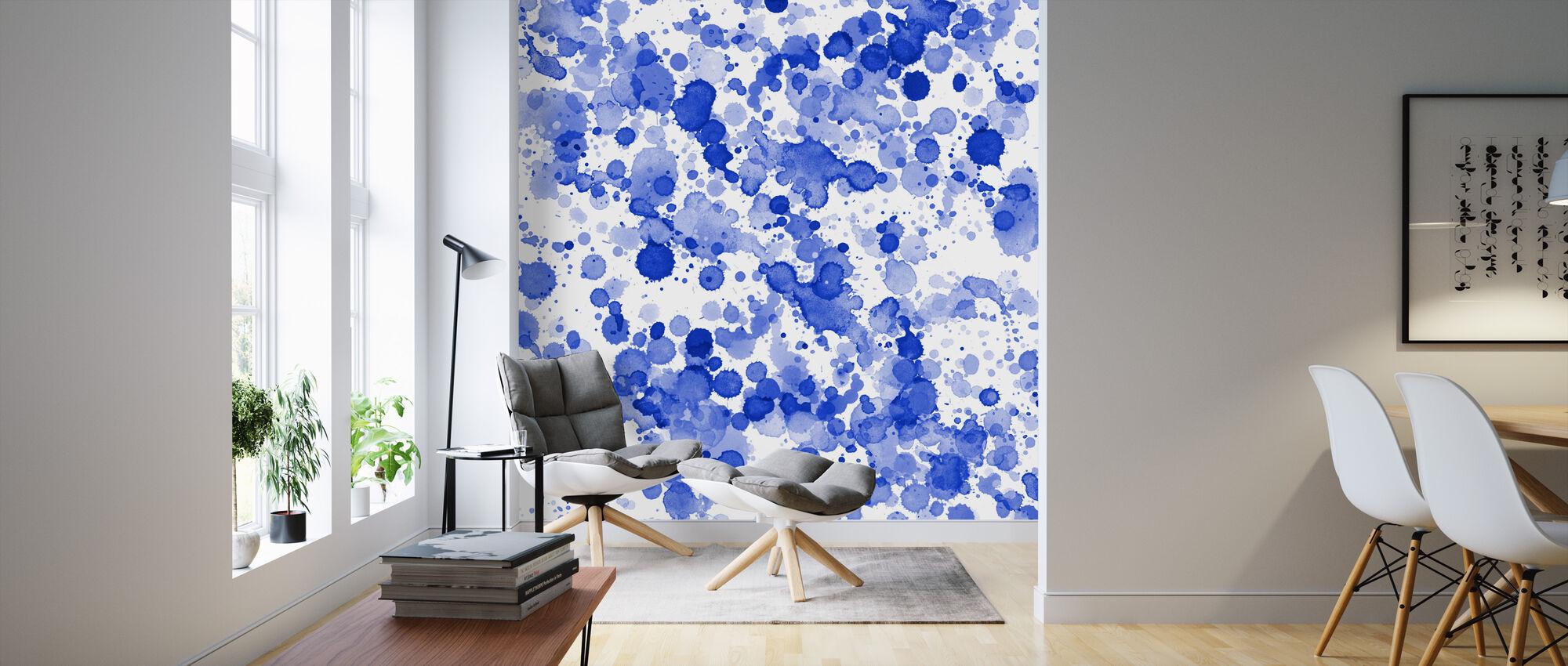 Blue Drops - Wallpaper - Living Room