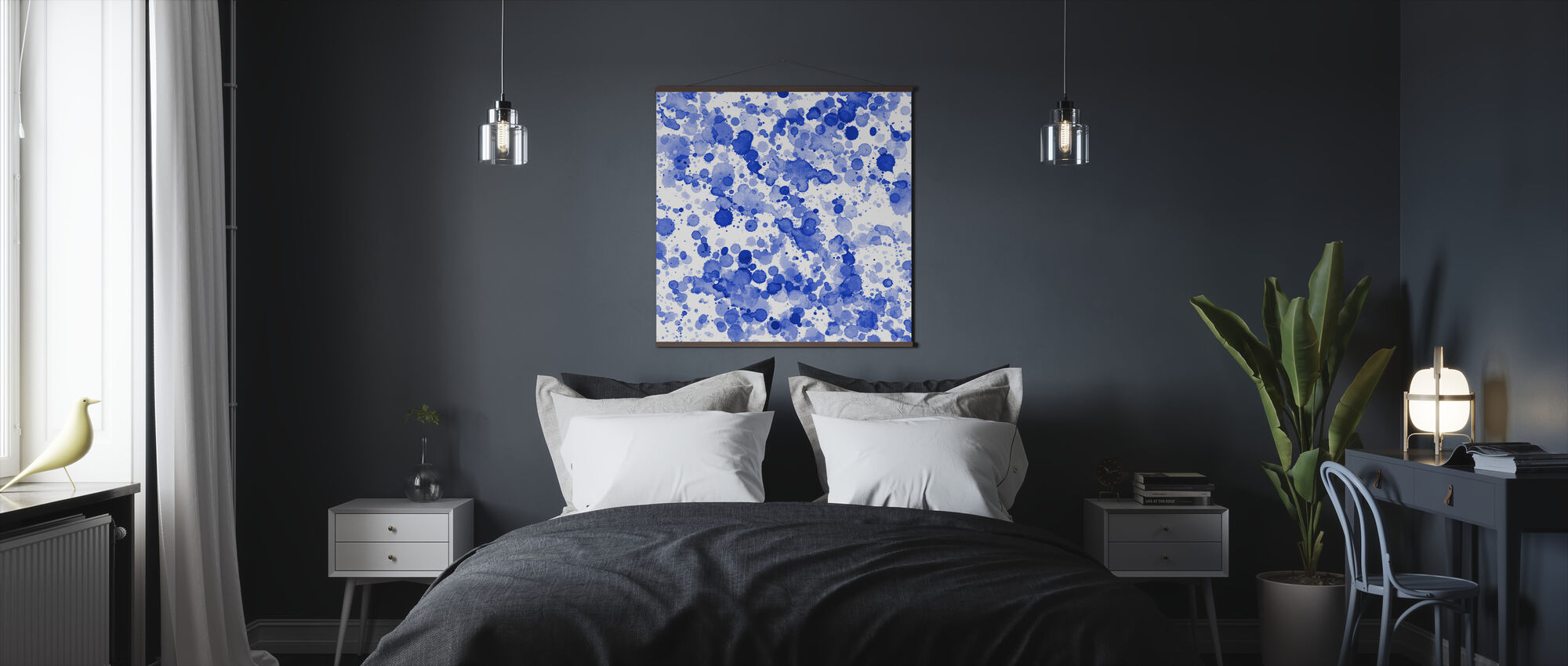 Blue Drops - Poster - Bedroom