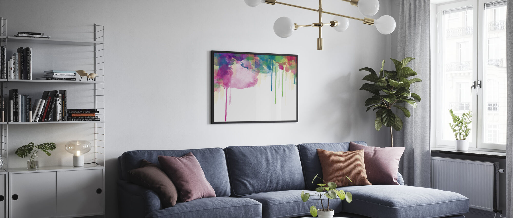 Colour Drips - Framed print - Living Room