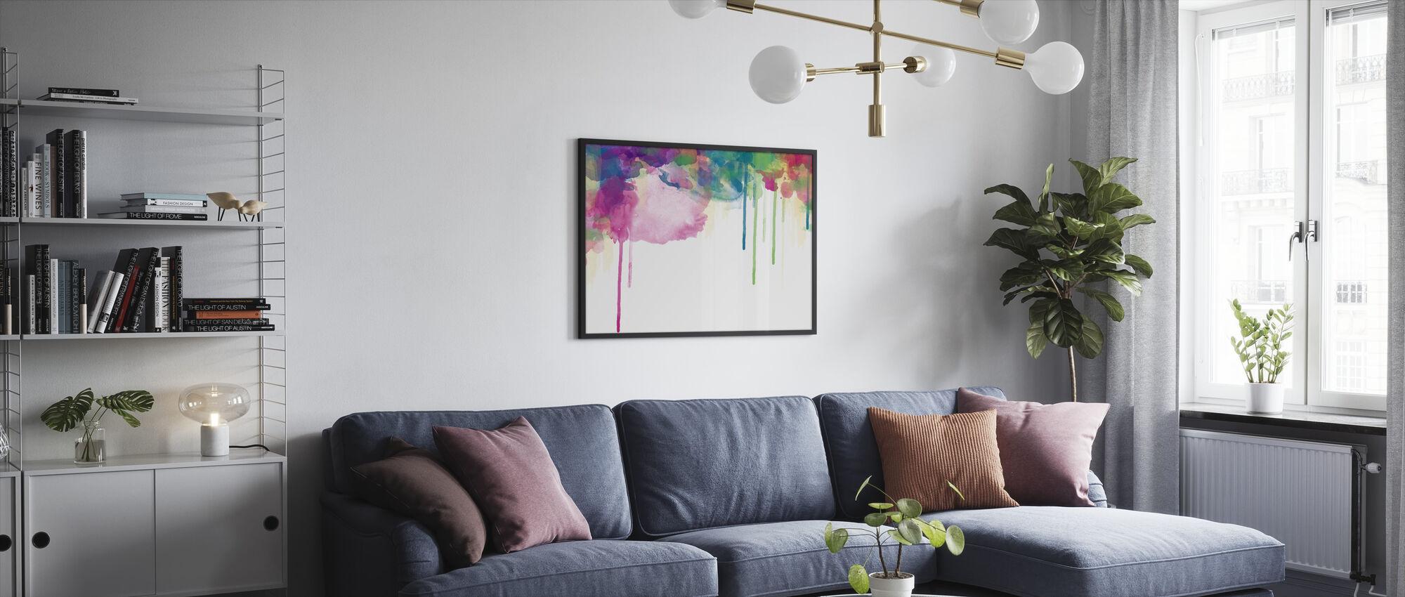 Colour Drips - Framed print - Living Room
