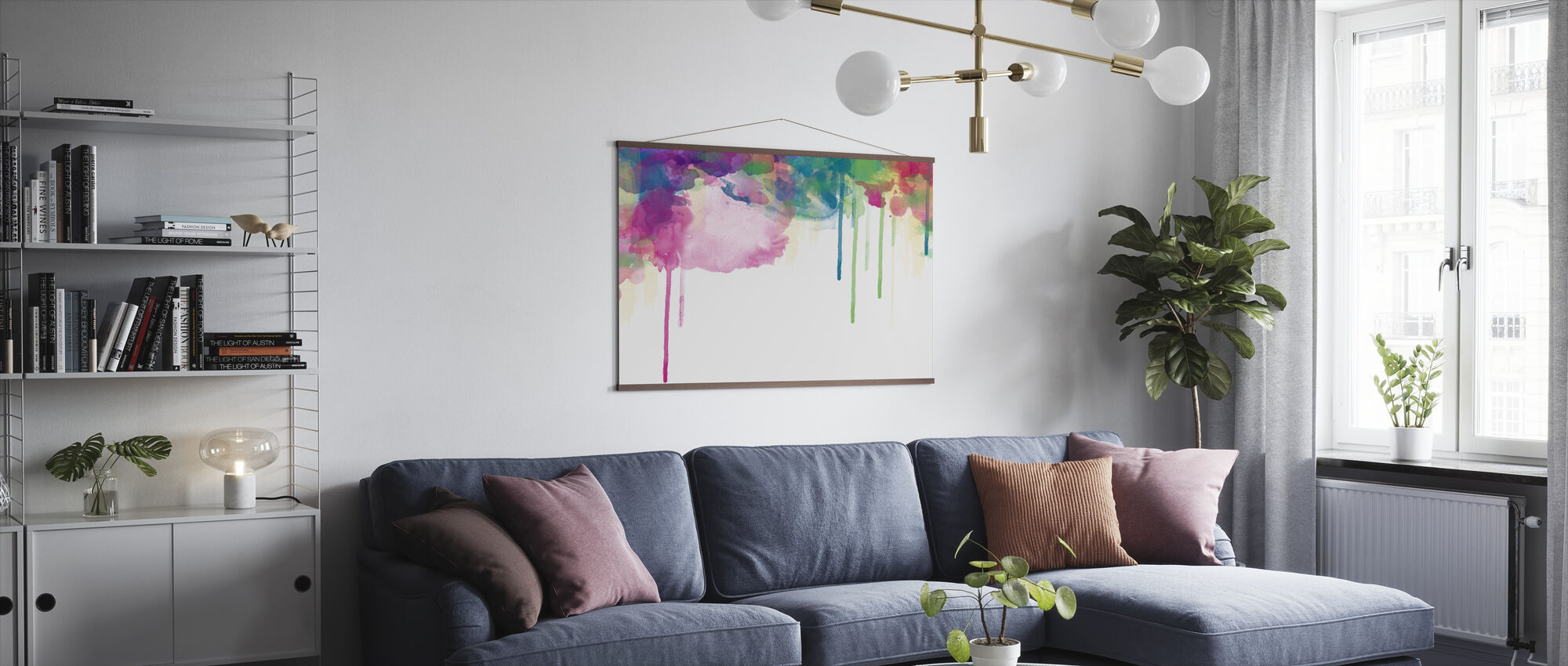 Colour Drips - Poster - Living Room