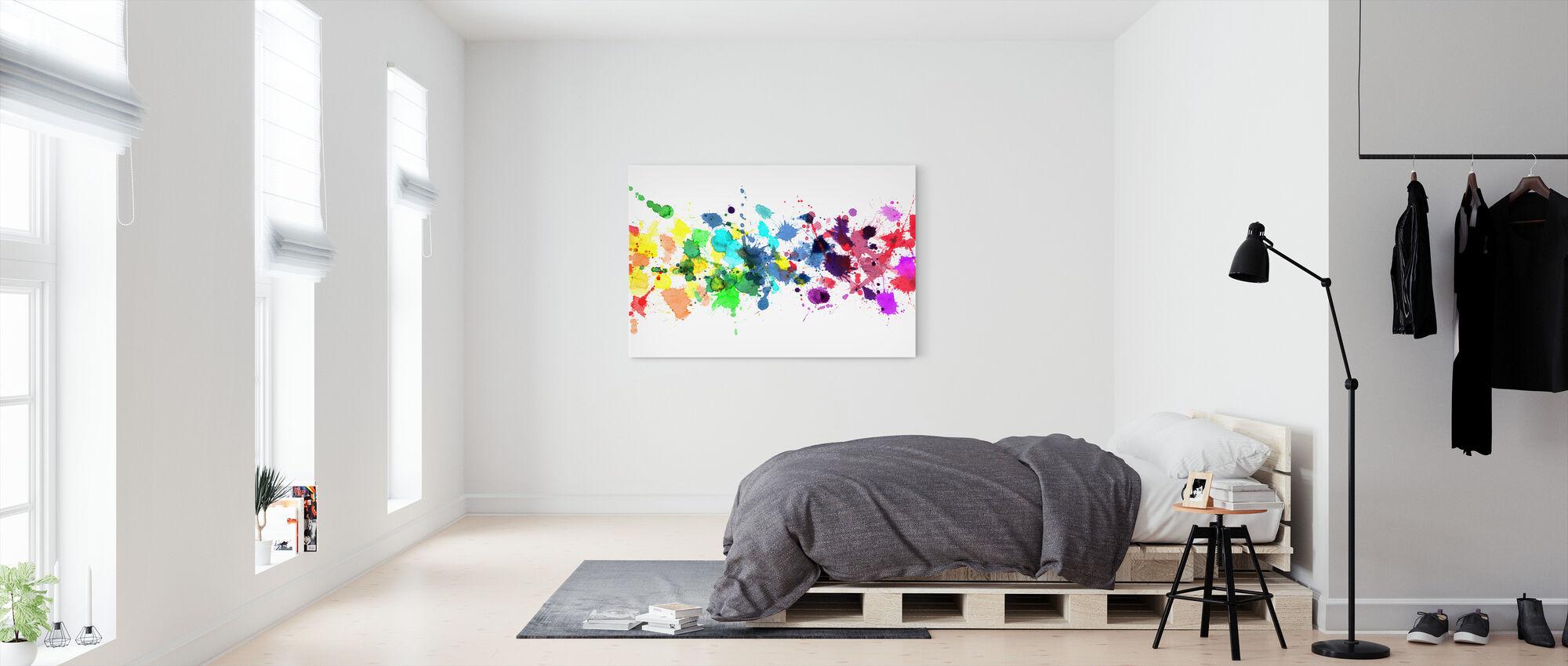 Aquarelle arc-en-ciel - Impression sur toile - Chambre