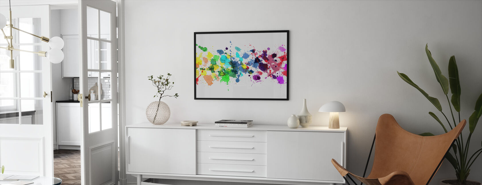 Watercolour Rainbow - Framed print - Living Room