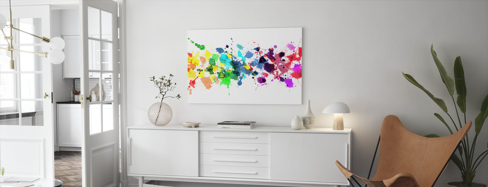 Watercolour Rainbow - Canvas print - Living Room