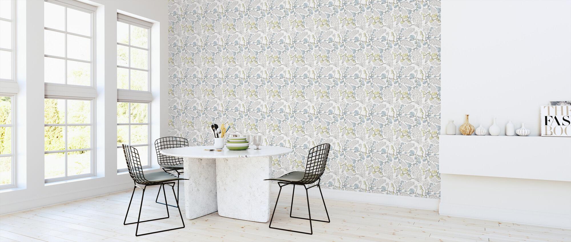 Forest - Blue - Wallpaper - Kitchen