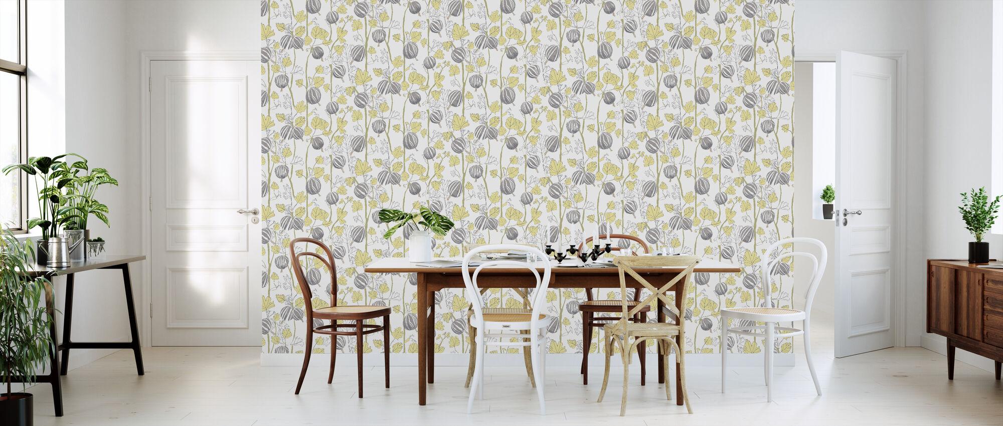 In the Garden - Brown - Wallpaper - Kitchen