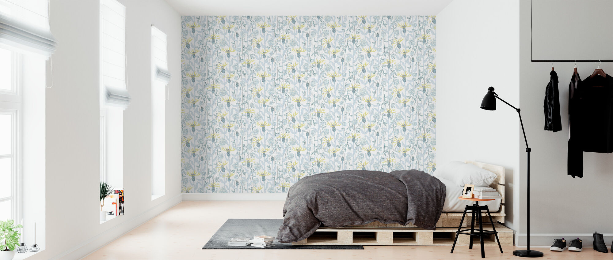 A Warm Summer's Day - Blue - Wallpaper - Bedroom