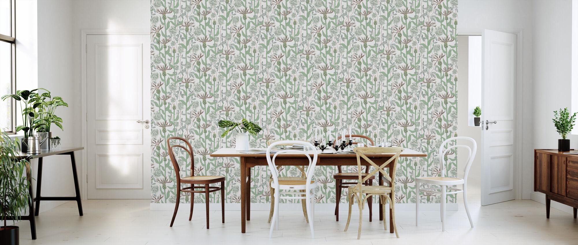 A Warm Summer's Day - Green - Wallpaper - Kitchen