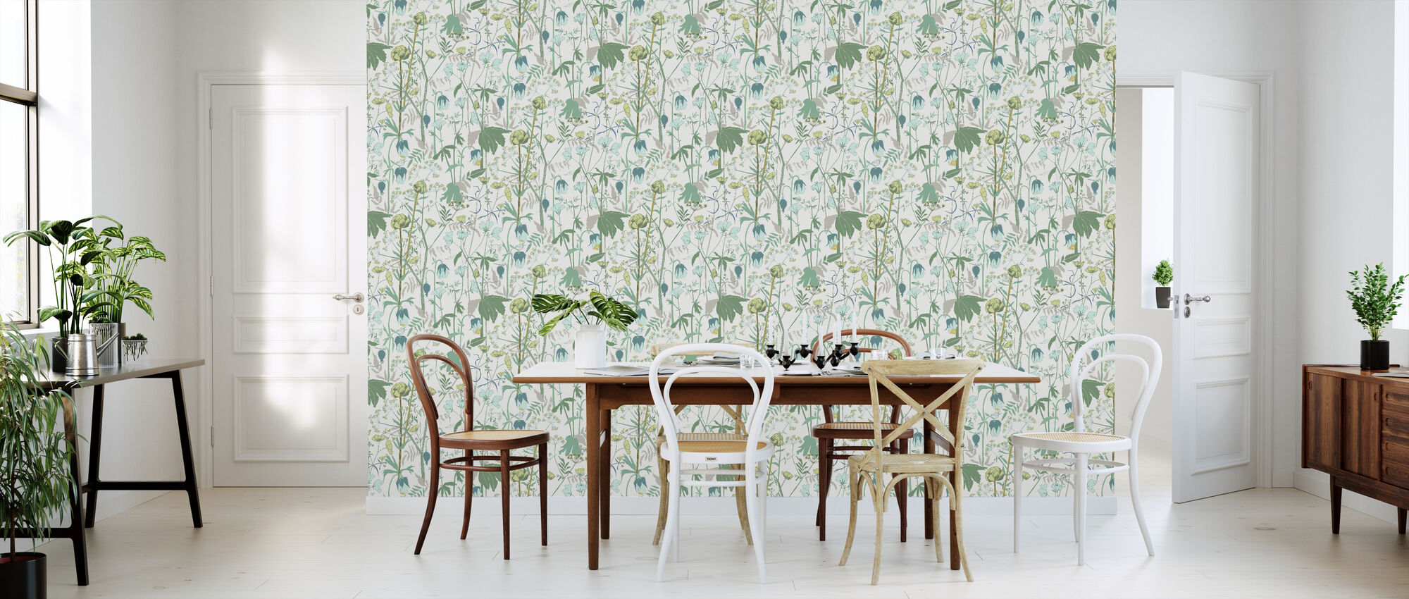 Summer Meadow - Green - Wallpaper - Kitchen