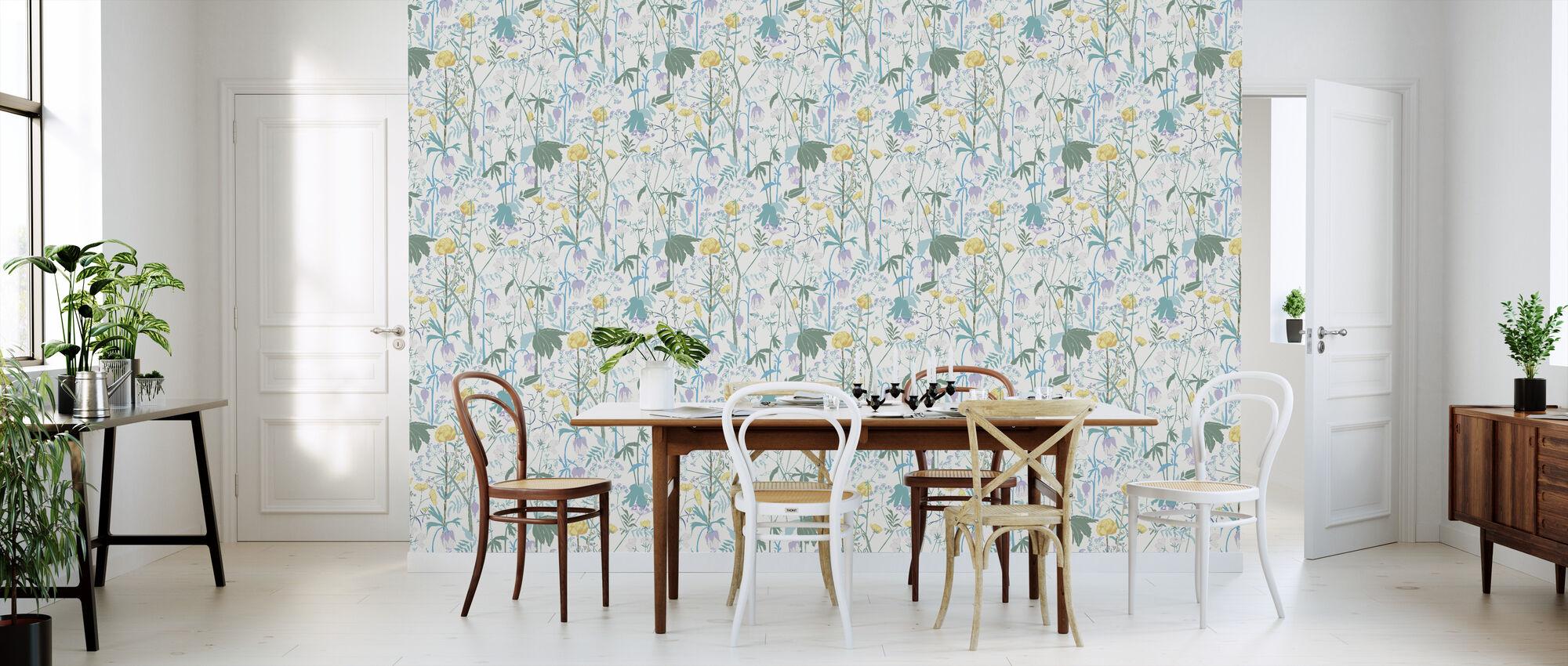 Summer Meadow - Blue - Wallpaper - Kitchen