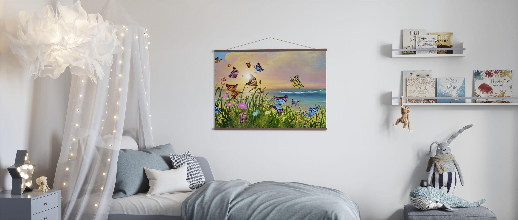 Vlinderstrand - Poster - Kinderkamer