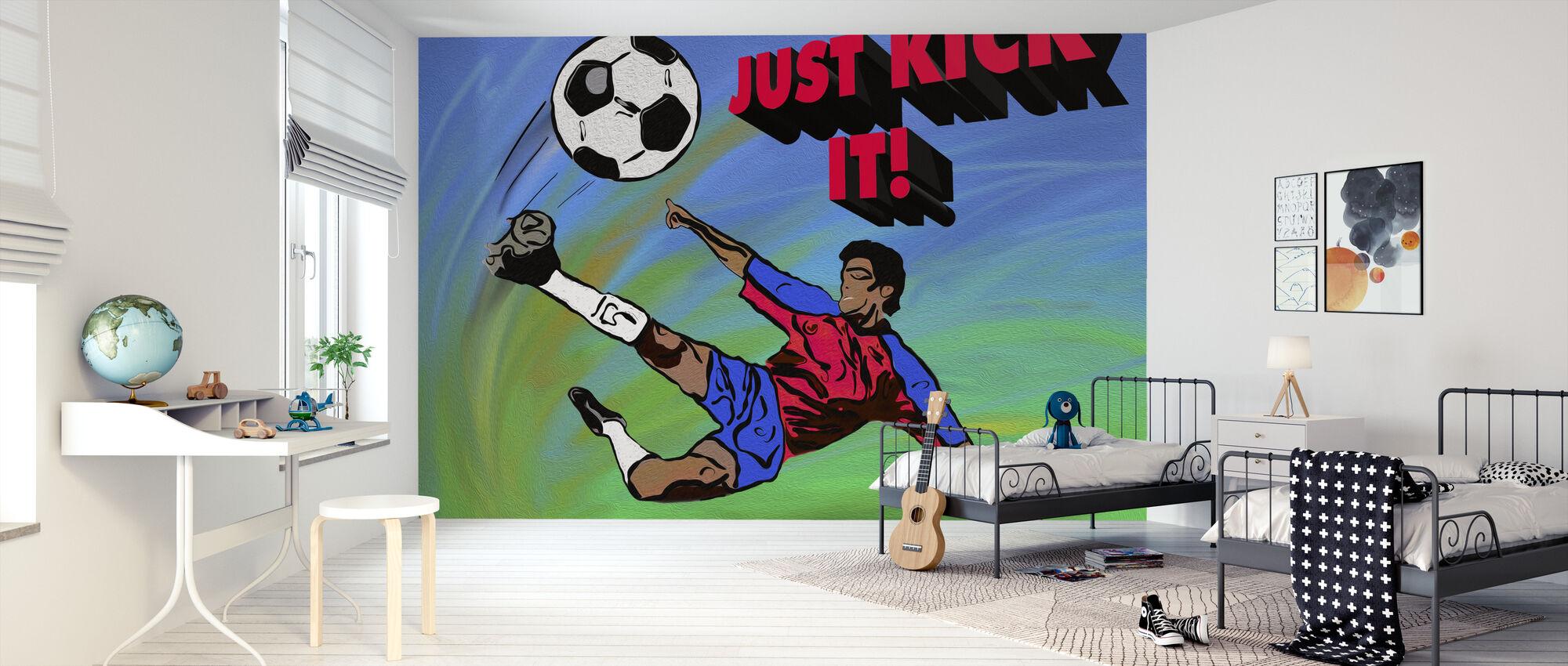Just Kick It - Wallpaper - Kids Room