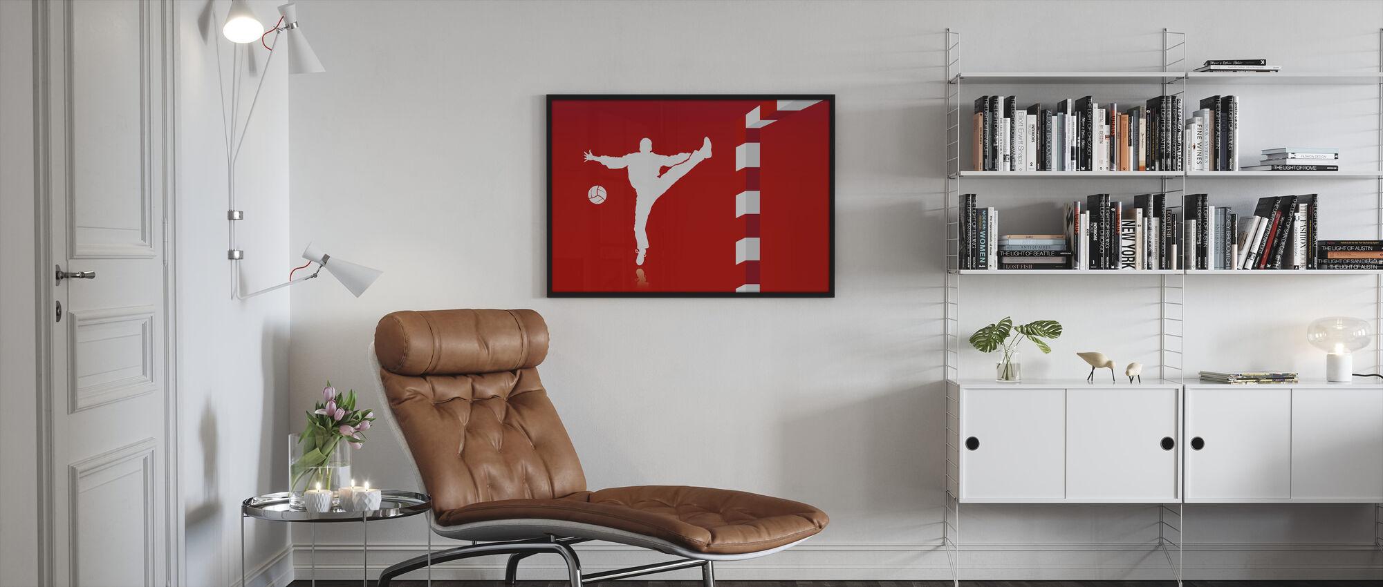 Handball - Red - Framed print - Living Room