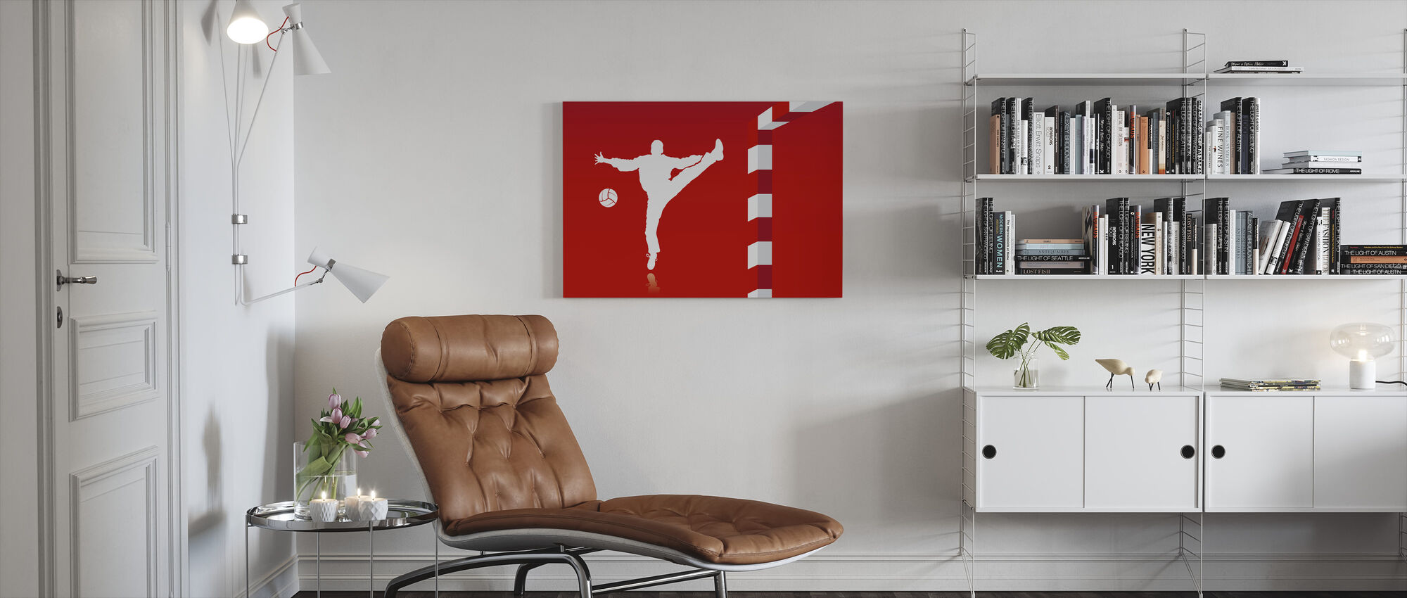 Käsipallo - Punainen - Canvastaulu - Olohuone