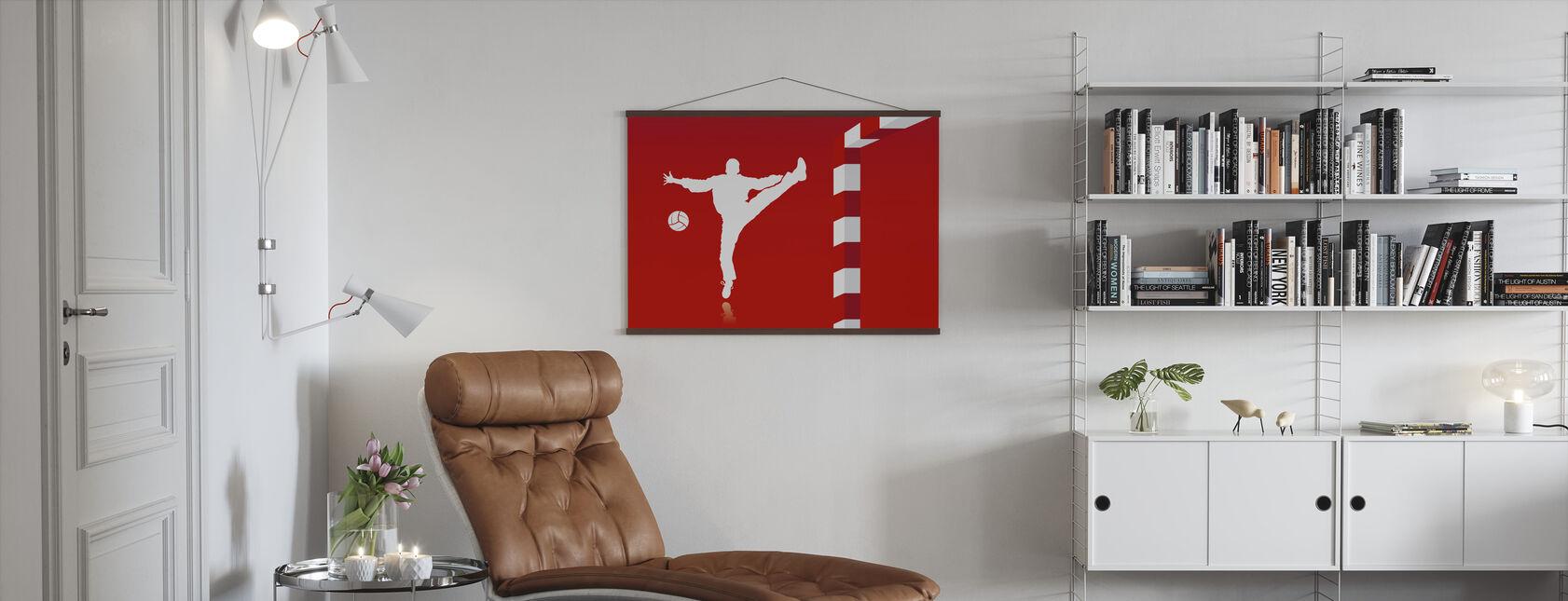 Handball - Rot - Poster - Wohnzimmer