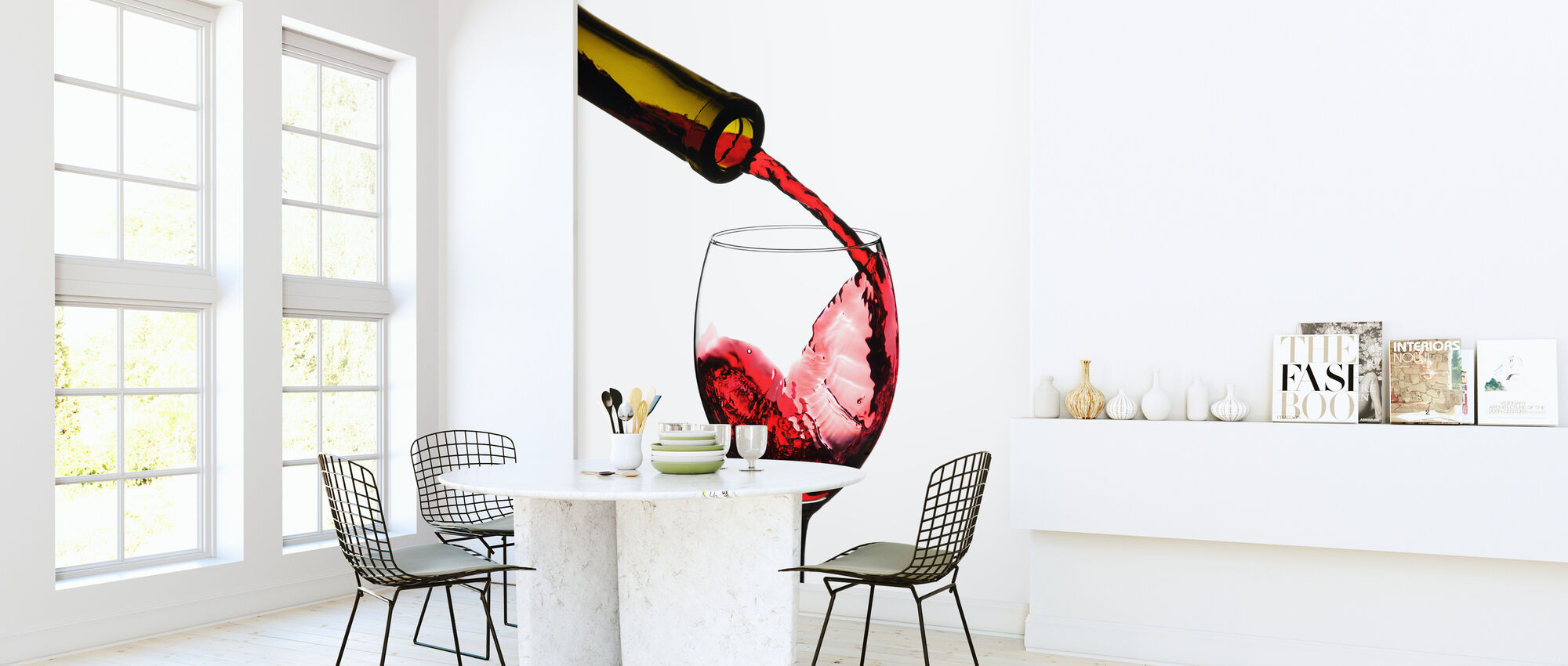 Red Wine Pour - Wallpaper - Kitchen
