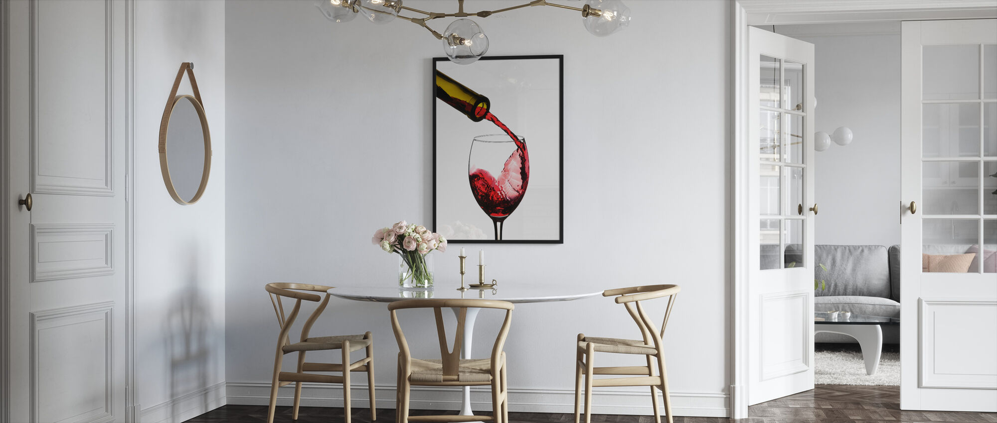 Red Wine Pour - Framed print - Kitchen